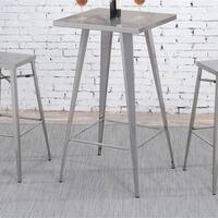 Furniture of America Cordon Industrial Dark Grey Square 42-inch Tall Bar Table