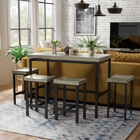 Fermel Contemporary 5-Piece Natural Tone Dining Set by FOA