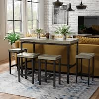 Furniture of America Fermel Contemporary 5-piece Counter Height Dining Set