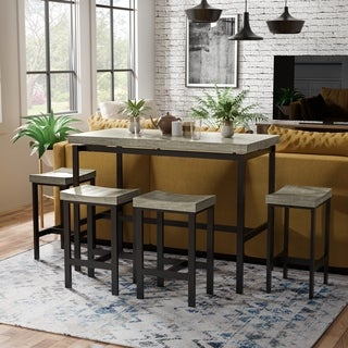 Furniture Of America Fermel Contemporary 5 Piece Counter Height Dining Set