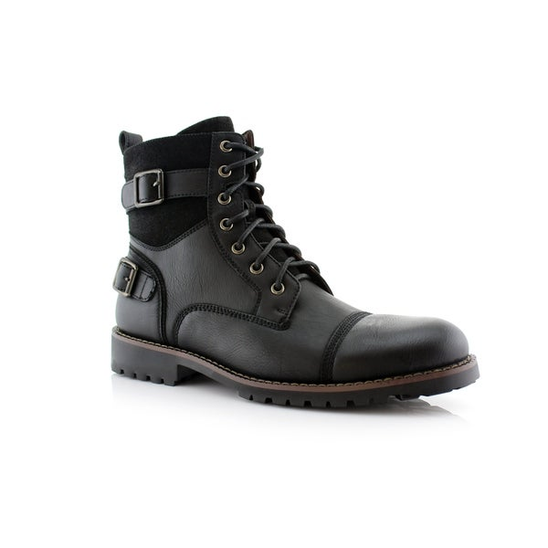 Polar Fox Patrick MPX808583 Men  x27 s Ankle Combat Boots For Work or Casual 5909a3d7f214