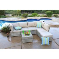 South Isle 7 Piece Sectional Seating Group with Cushion
