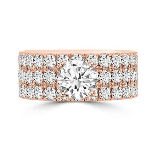 La Vita Vital 14K Rose Gold Moissanite 1.00ct TGW & Diamond 2.25cts Ring - White