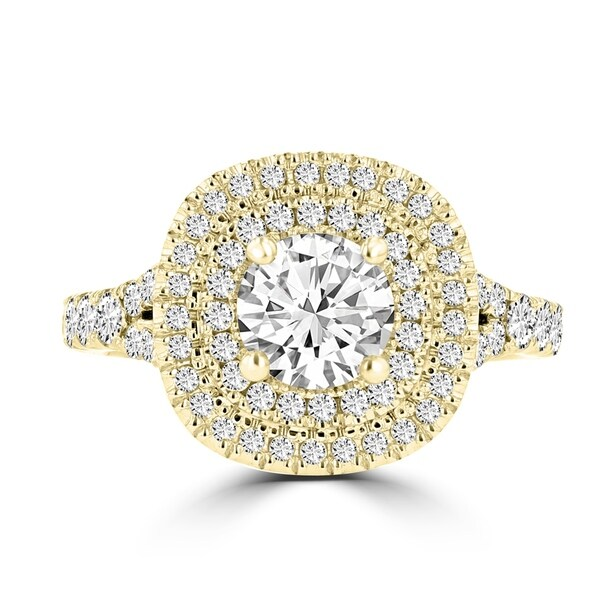 La Vita Vital 14K Two-Tone Moissanite 1.00ct & Diamond 0.80ct Engagement Ring - White. Opens flyout.