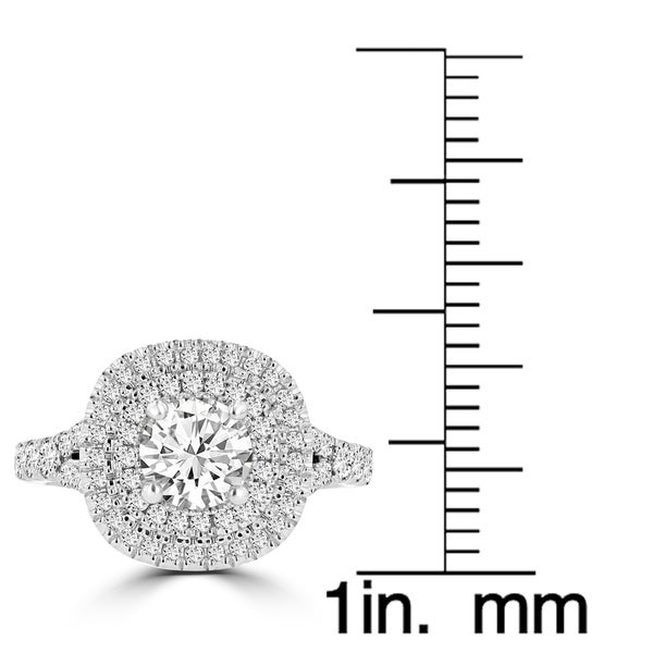 La Vita Vital 14K Two-Tone Moissanite 1.00ct & Diamond 0.80ct Engagement Ring - White