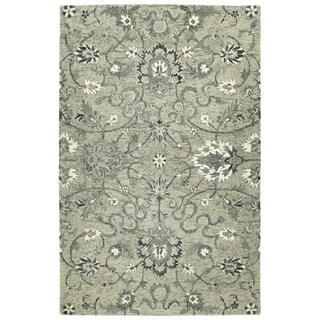 Bombay Home Ashton Grey Wool Hand-tufted Area Rug (4' x 6')
