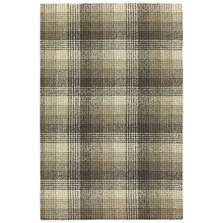 "Hand-Tufted Snook Brown Wool Rug - 3'6"" x 5'6"""