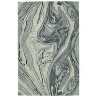 Hand-Tufted Artworks Grey Wool Rug - 3'6 x 5'6