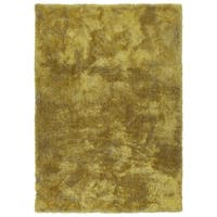 Hand-Tufted Silky Shag Lime Green Polyester Rug - 3' x 5'