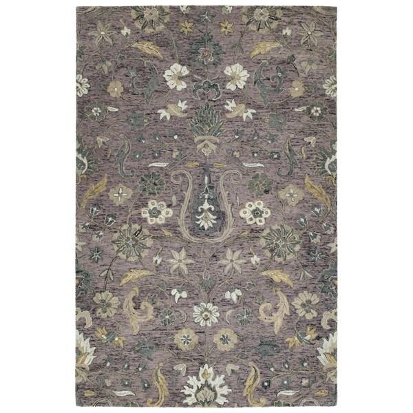 Hand-Tufted Ashton Lilac Wool Rug - 4' x 6'