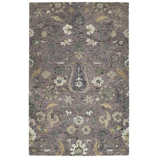 Bombay Home Ashton Lilac Wool Hand-tufted Area Rug (4' x 6')