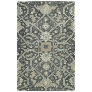 Hand-Tufted Ashton Graphite Wool Rug - 4' x 6'