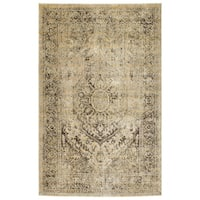 Machine-Made Loki Gold Polypropylene Rug - 3'11 x 5'3