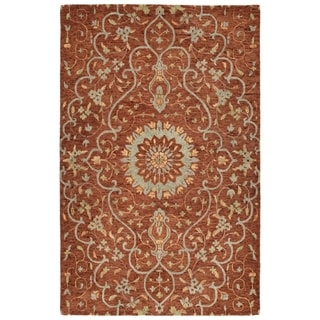 Bombay Home Ashton Brick Wool Hand-tufted Area Rug (4' x 6')