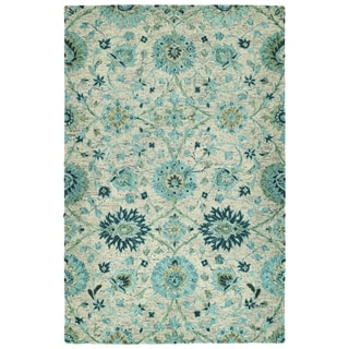 Bombay Home Ashton Turquoise Wool Hand-tufted Area Rug (4' x 6')