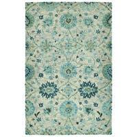 Hand-Tufted Ashton Turquoise Wool Rug - 4' x 6'