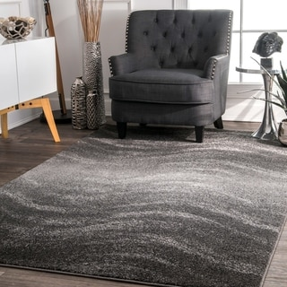 Porch & Den Rodney Ombre Waves Grey Runner Rug