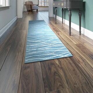 Porch & Den Somerville Newbury Blue Rug - 2' x 7'5