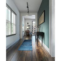 "Porch & Den Somerville Gilman Blue/ Black Indoor Runner Rug - 2' x 7'5"""