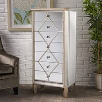 Benson Mirrored 7-Drawer Cabinet by Christopher Knight Home