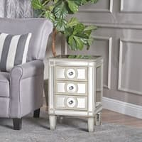 Maeve Mirrored 3-Drawer Cabinet by Christopher Knight Home