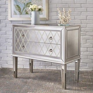 Espen Mirrored 2-Drawer Cabinet Console Table by Christopher Knight Home