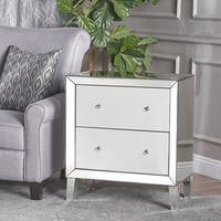 Jeremye Mirrored 2-Drawer Cabinet by Christopher Knight Home