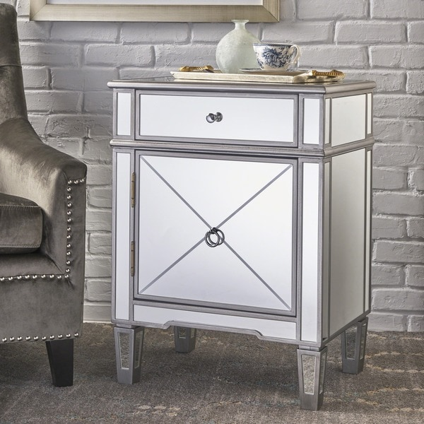 Slegers Mirrored 2-Drawer Cabinet by Christopher Knight Home