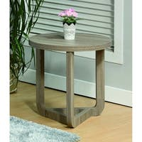 Modern Style Round End Table, Gray