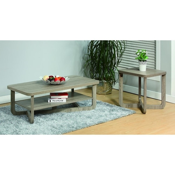 Coffee End Table With Rounded Corners Set Of Two