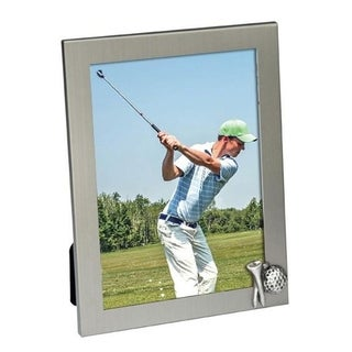 """Heim Concept Aluminum Photo Frame 5x7"""" with Golf Tee and Ball Icon"""