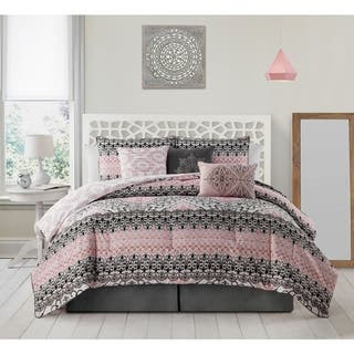 Avondale Manor Celia 7-piece King Size Comforter Set in Pink(As Is Item)|https://ak1.ostkcdn.com/images/products/18067805/P91026542.jpg?impolicy=medium