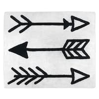 Sweet Jojo Designs Black and White Fox Collection Accent Floor Rug