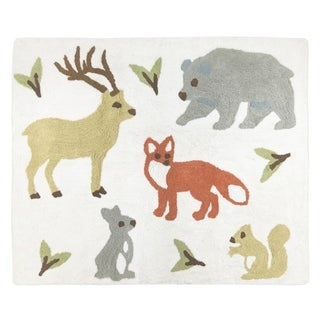 Sweet Jojo Designs Woodland Toile Collection Accent Floor Rug