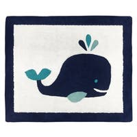 Sweet Jojo Designs Whale Collection Accent Floor Rug