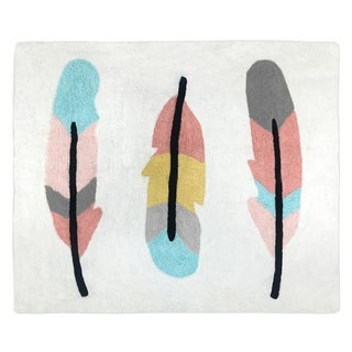Sweet Jojo Designs Feather Collection Accent Floor Rug