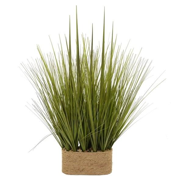 Faux Grass Pot - Green