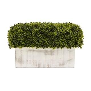 Faux Boxwood Pot - Green