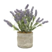 Faux Lavender Pot - Purple