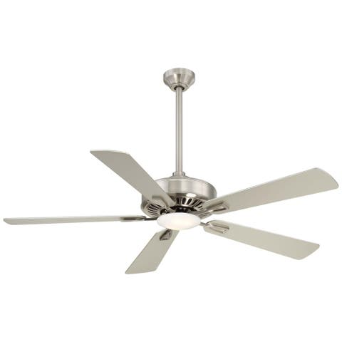 Contractor Plus Led Ceiling Fan in Brushed Nickel finish w/ Silver blades by Minka Aire