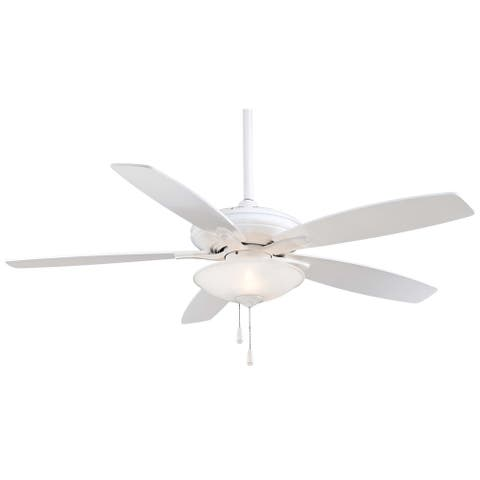 Mojo Ceiling Fan in White finish w/ White blades by Minka Aire
