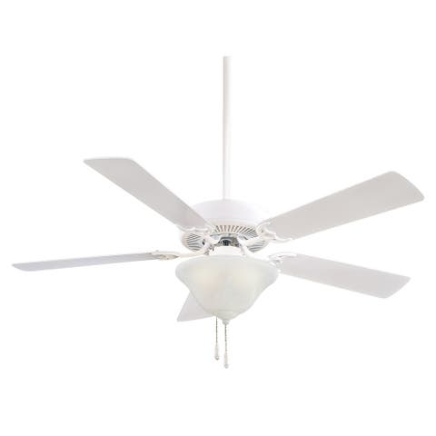 """Contractor Uni-Pack - 52"""" Ceiling Fan in White finish w/ White blades by Minka Aire - N/A"""