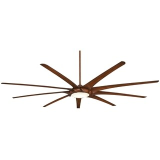 Minka Aire Ninety-Nine Distressed Koa Metal 99-inch LED Ceiling Fan