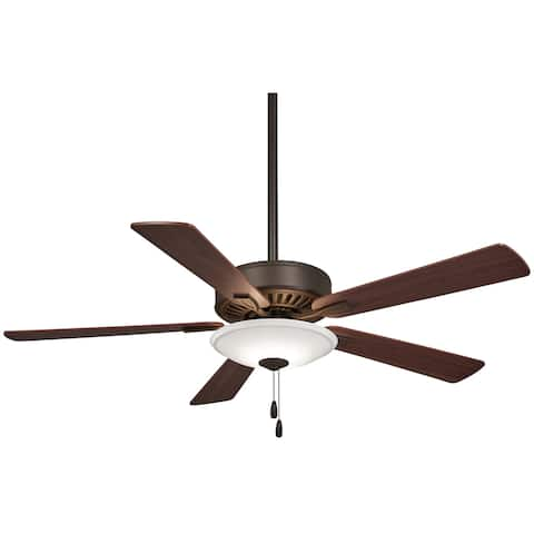 "Contractor Uni-Pack Led 52"" Led Ceiling Fan in Oil Rubbed Bronze finish w/ Medium Maple/Dark Walnut blades by Minka Aire"