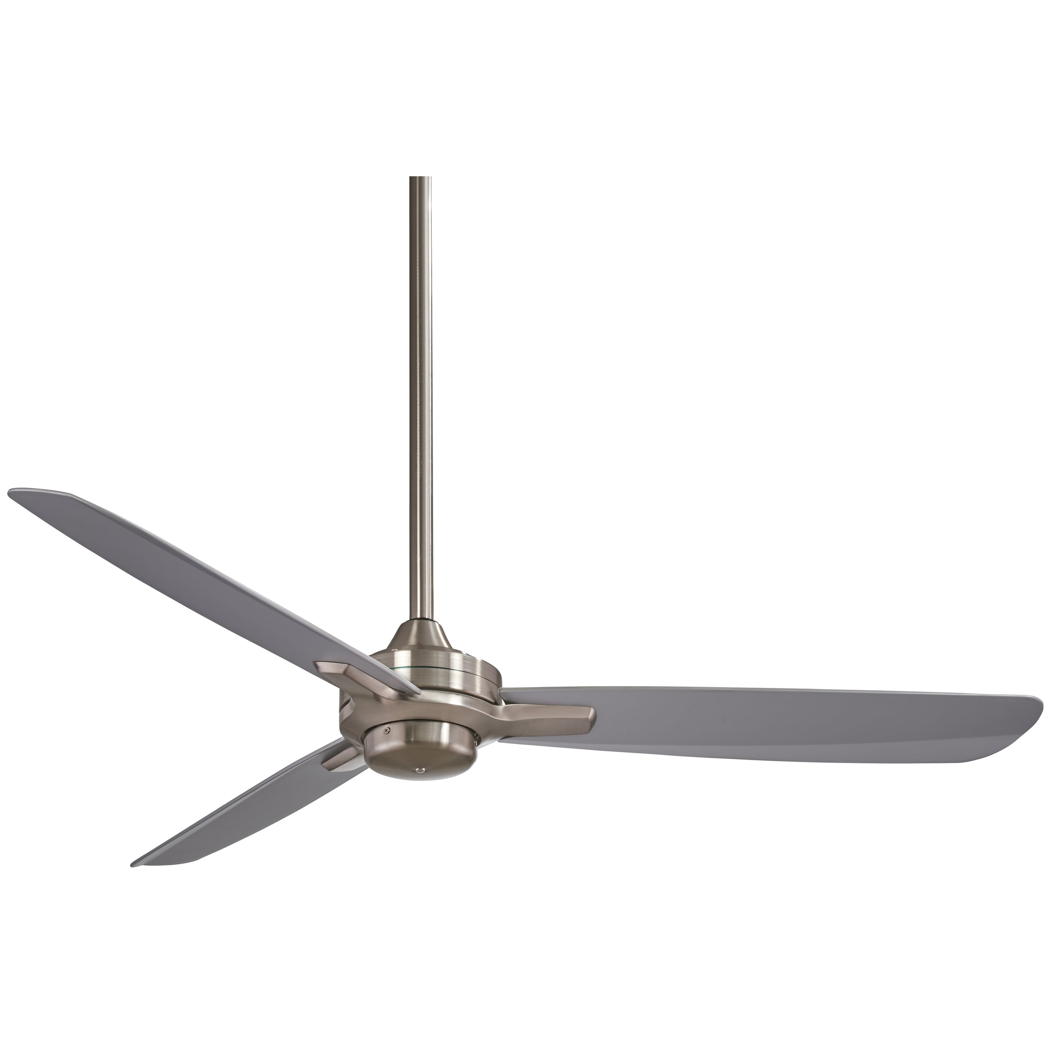 Rudolph Ceiling Fan In Brushed Nickel W Silver Finish Blades