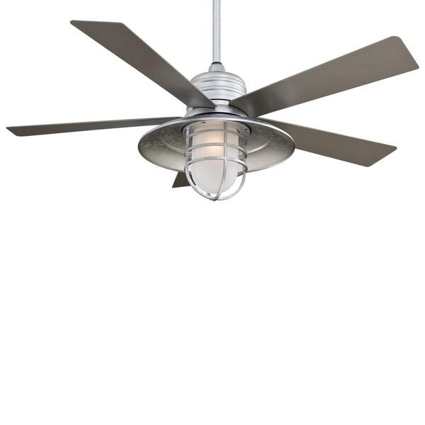 Minka Aire Rainman Galvanized Finish Ceiling Fan