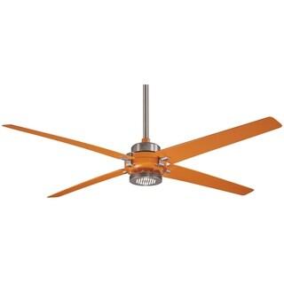 Minka Aire Spectre Orange/Brushed Nickel Aluminum/Iron Ceiling Fan