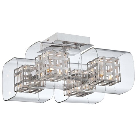 Minka Kovacs Jewel Box 4 Light Semi Flush Mount