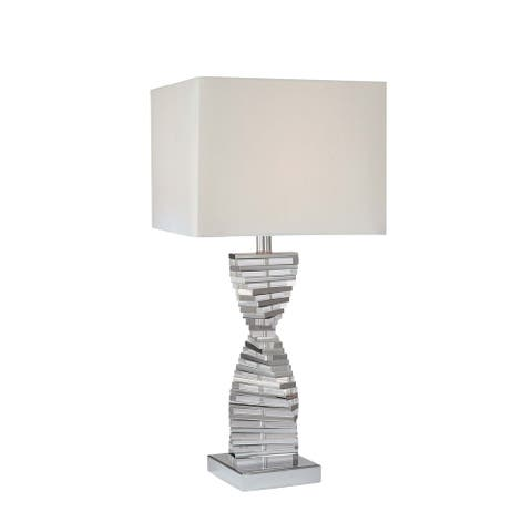 Chrome 1 Light Table Lamp By George Kovacs