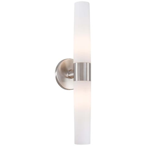 Saber Brushed Stainless Steel 2 Light Bath by Minka Lavery